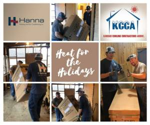 Hanna supports veterans and provided a free furnace to a vet as part of the Heat for the Holidays program
