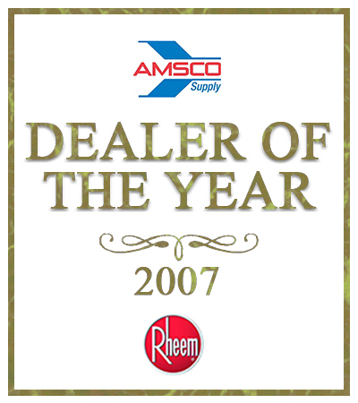 Dealer of the Year award from AMSCO in 20017