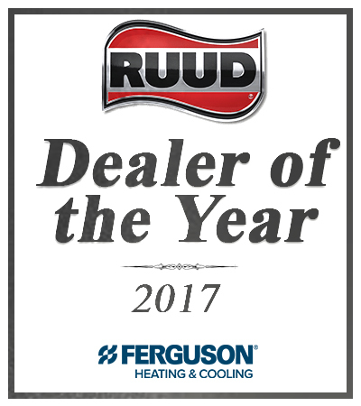 Dealer of the year 2017 award from RUUD