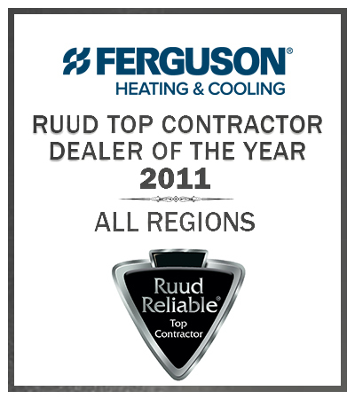 RUUD 2011 top contractor dealer award