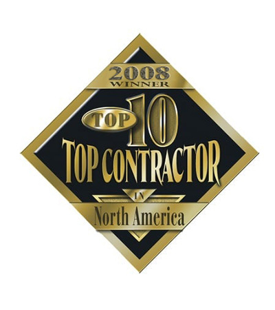 Top 10 Contractor in North American award for 2008