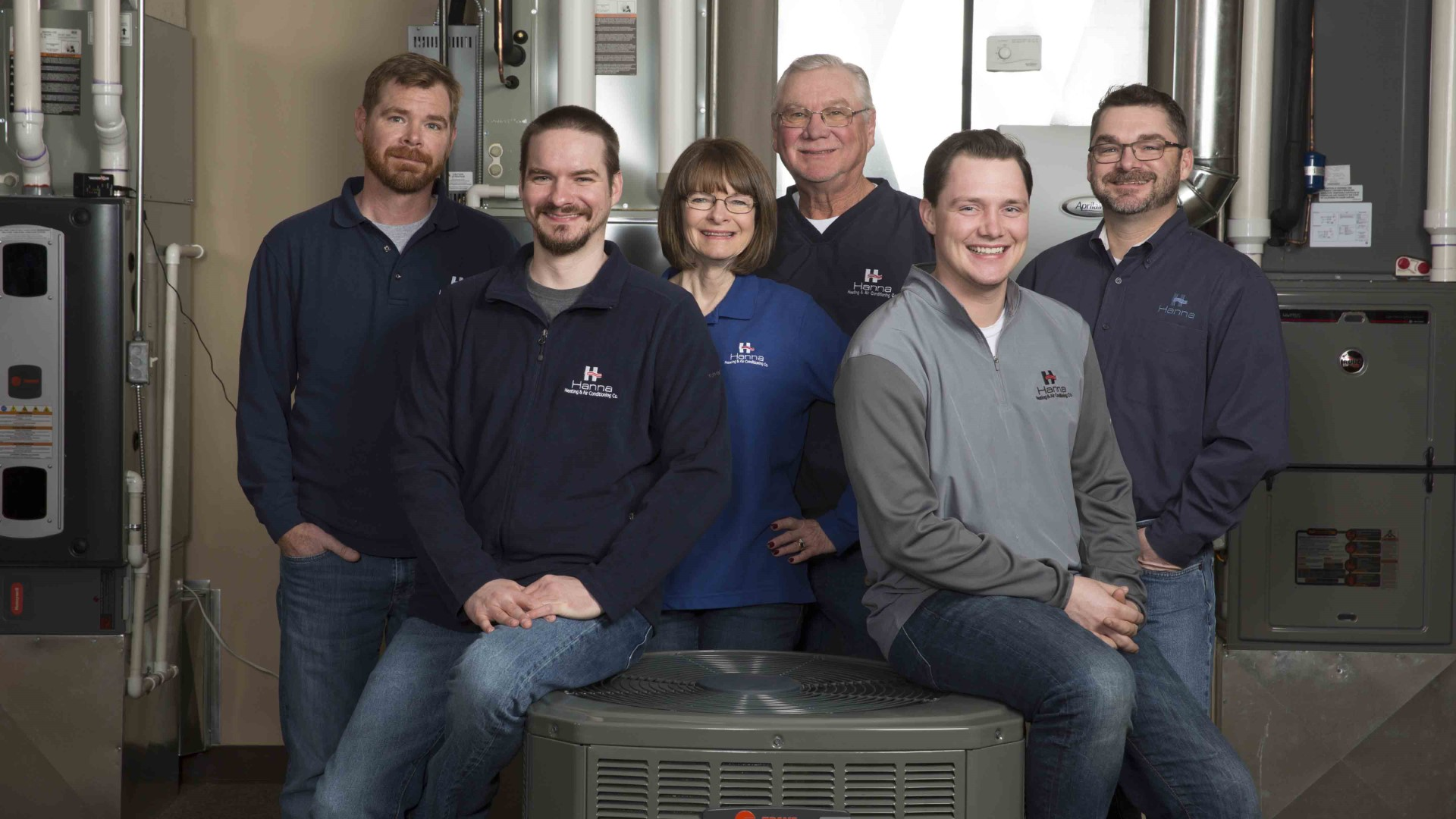 Hanna Heating & Air team of owners, managers and professional HVAC experts
