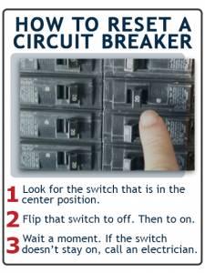 how to reset circuit breaker