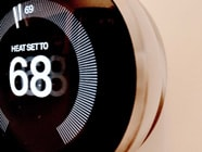 Thermostat set to heat to 68 degrees