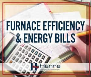 Furnace efficiency on heating bills